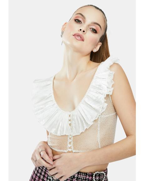 The Maria Agnesi Tulle Blouse