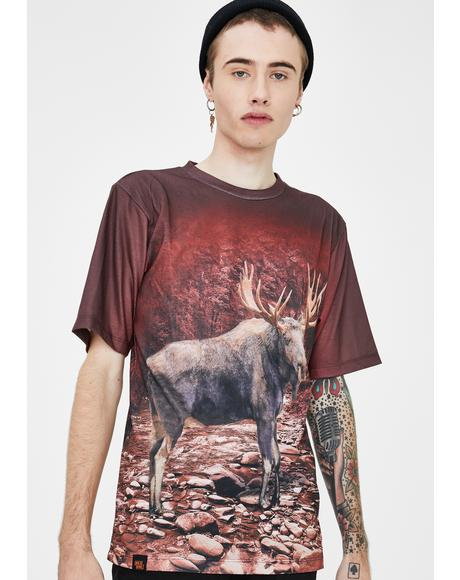 Subliminal Animal Moose Graphic Tee