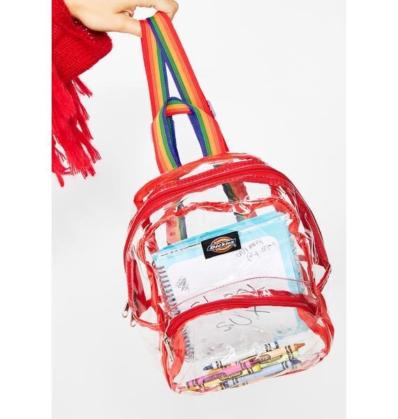 Dickies Clear Rainbow Mini Backpack