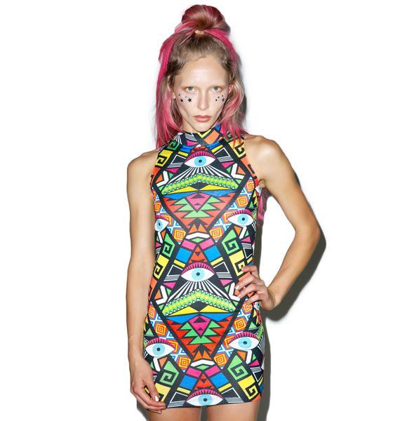 Jaded London Crazy Eyez Bodycon Dress
