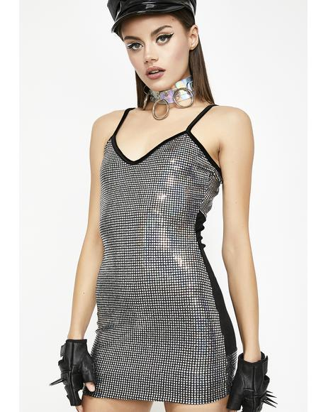 Platinum Goals Sequin Dress