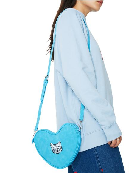 Soft Heart Kitty Bag