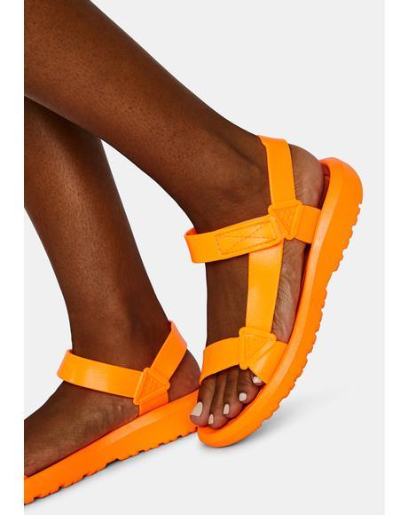 Citrus Breath Of Fresh Air Velcro Sandals