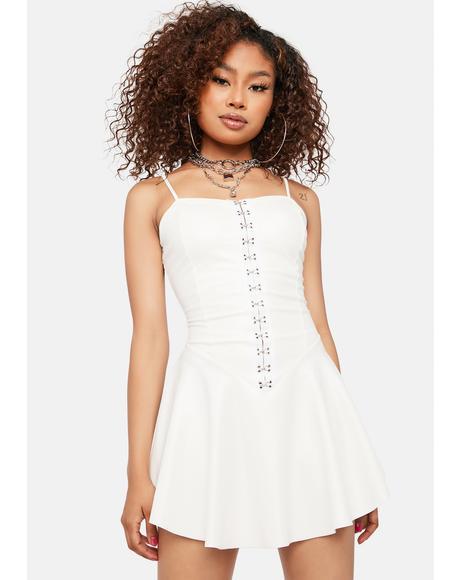 Blanc Can't Be Saved Vegan Leather Mini Dress