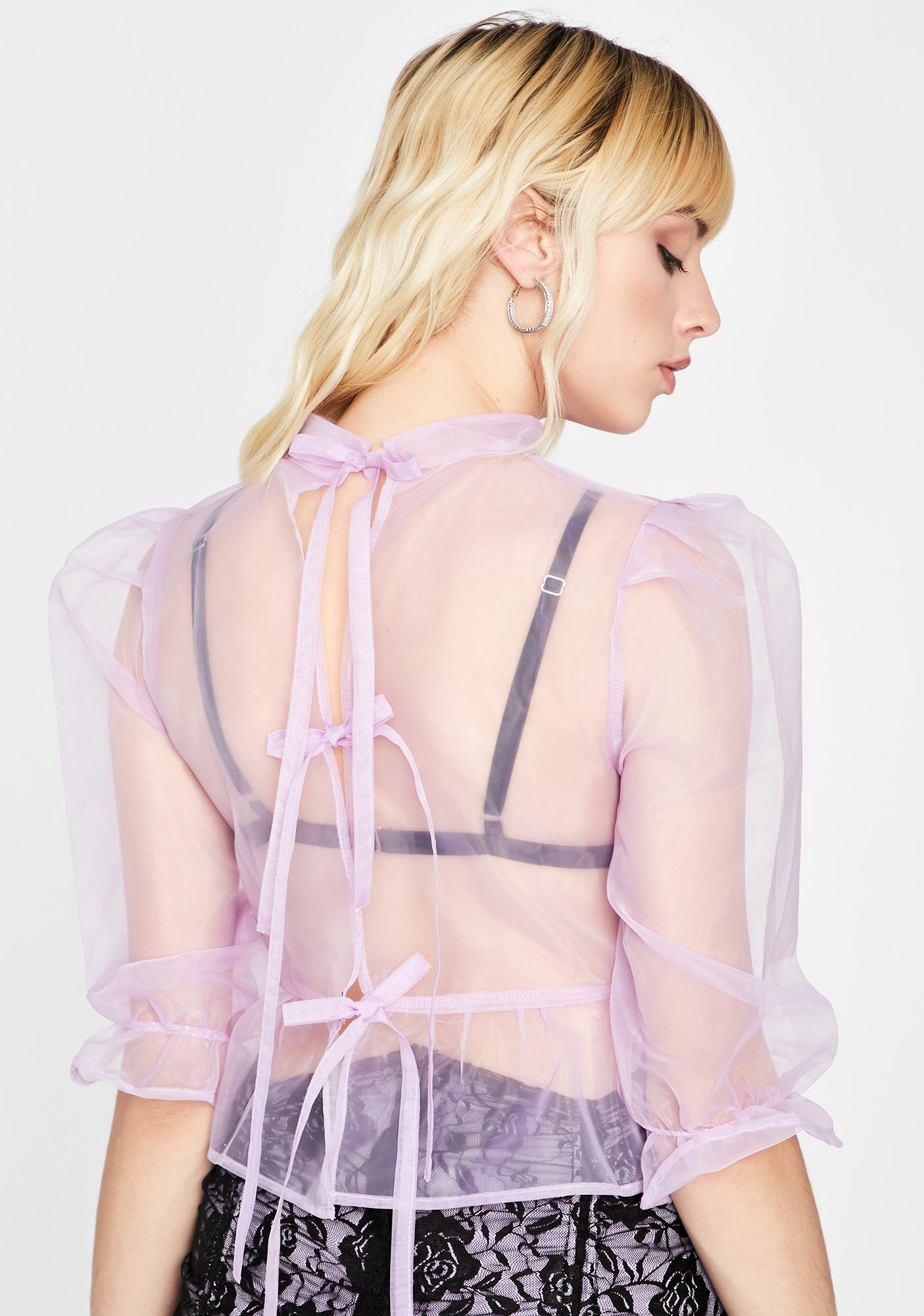 Blurred Lines Organza Blouse