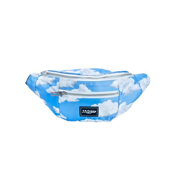Jaded London Cloud Print Fanny Pack