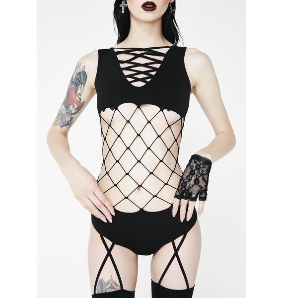 Here I Come Fishnet Bodystocking