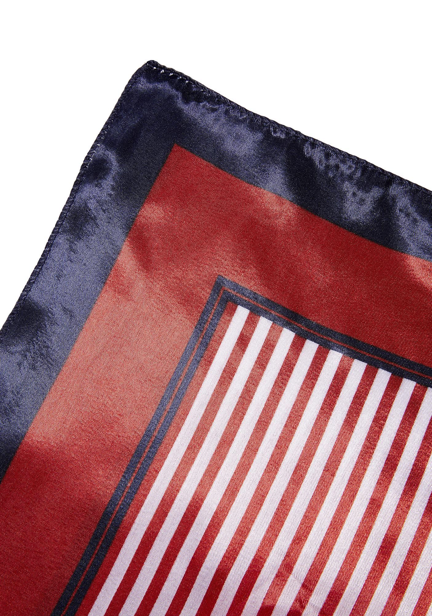 Striped Square Scarf