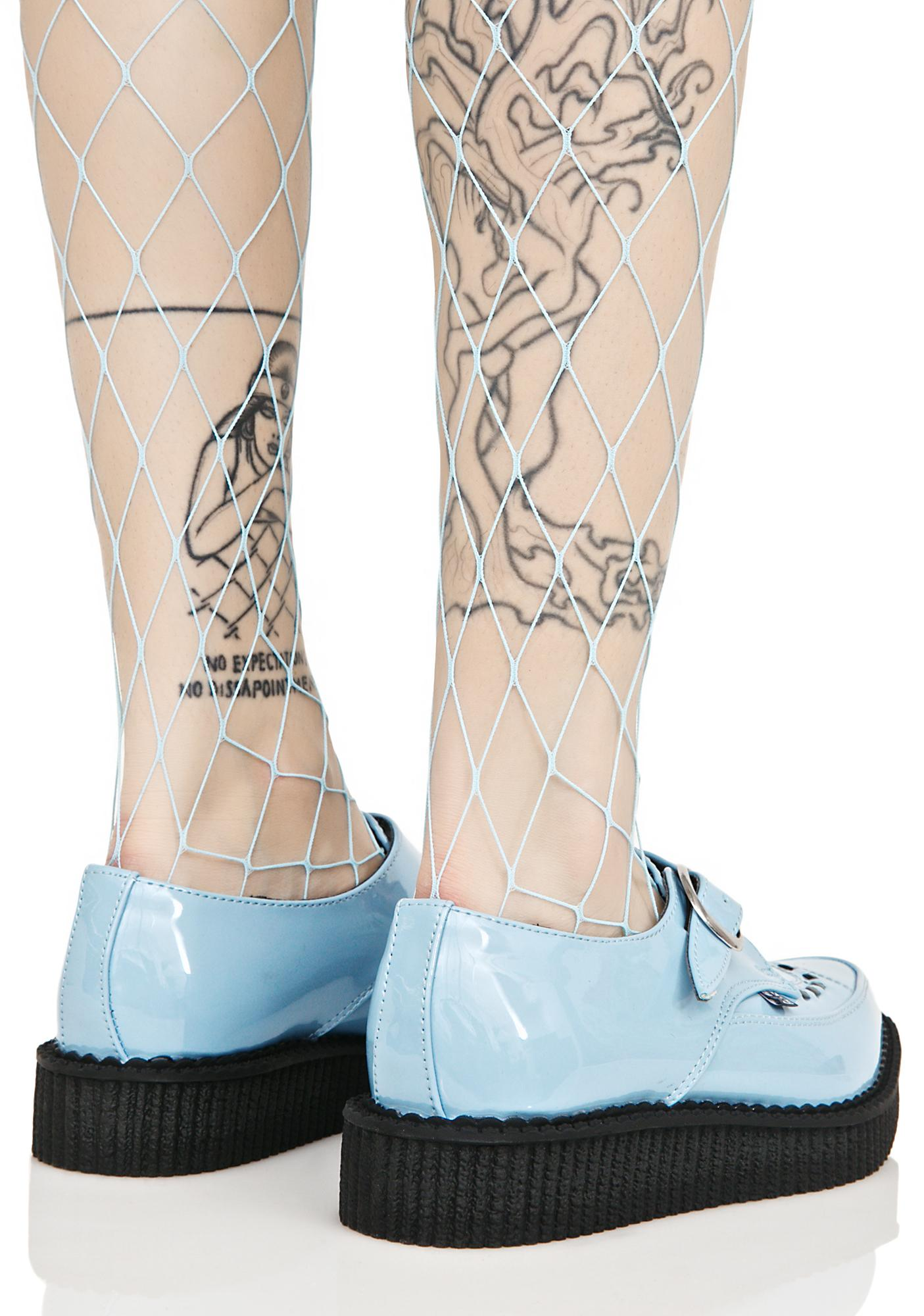 T.U.K. Blue Buckle Creepers
