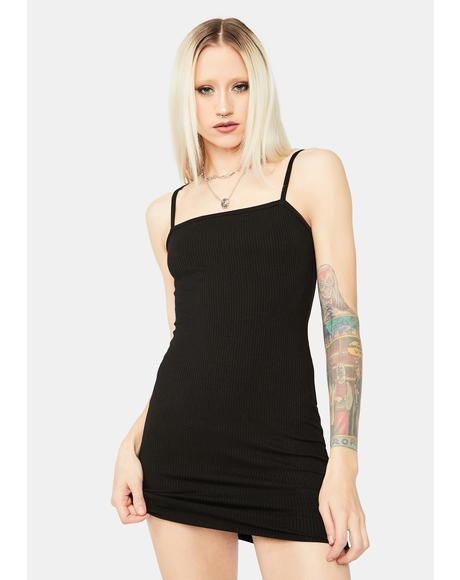 Just Makes Sense Ribbed Mini Dress