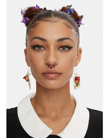 Rose Rebellion Floral Nose Ring Set