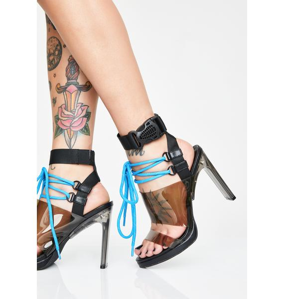 Poster Grl Savage Doll Lace-Up Heels