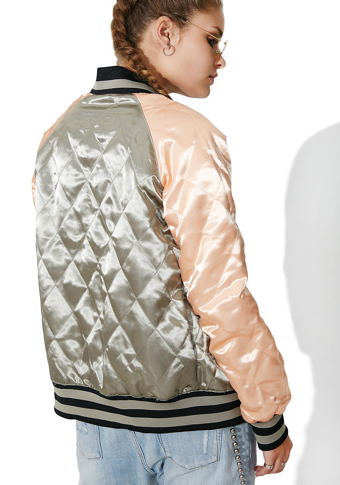 Members Only Floral Blossom Reversible Souvenir Jacket