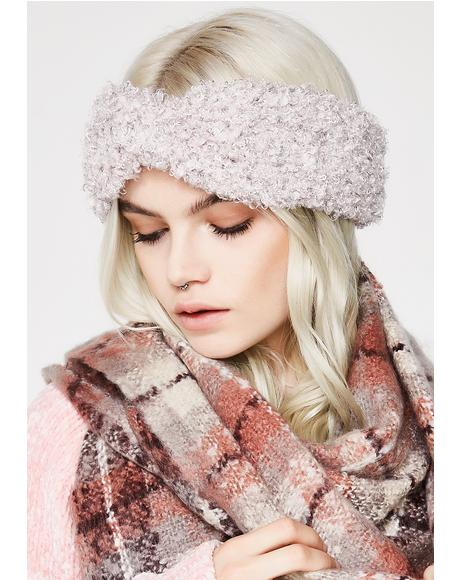 Blush Toasted Fuzzy Headband