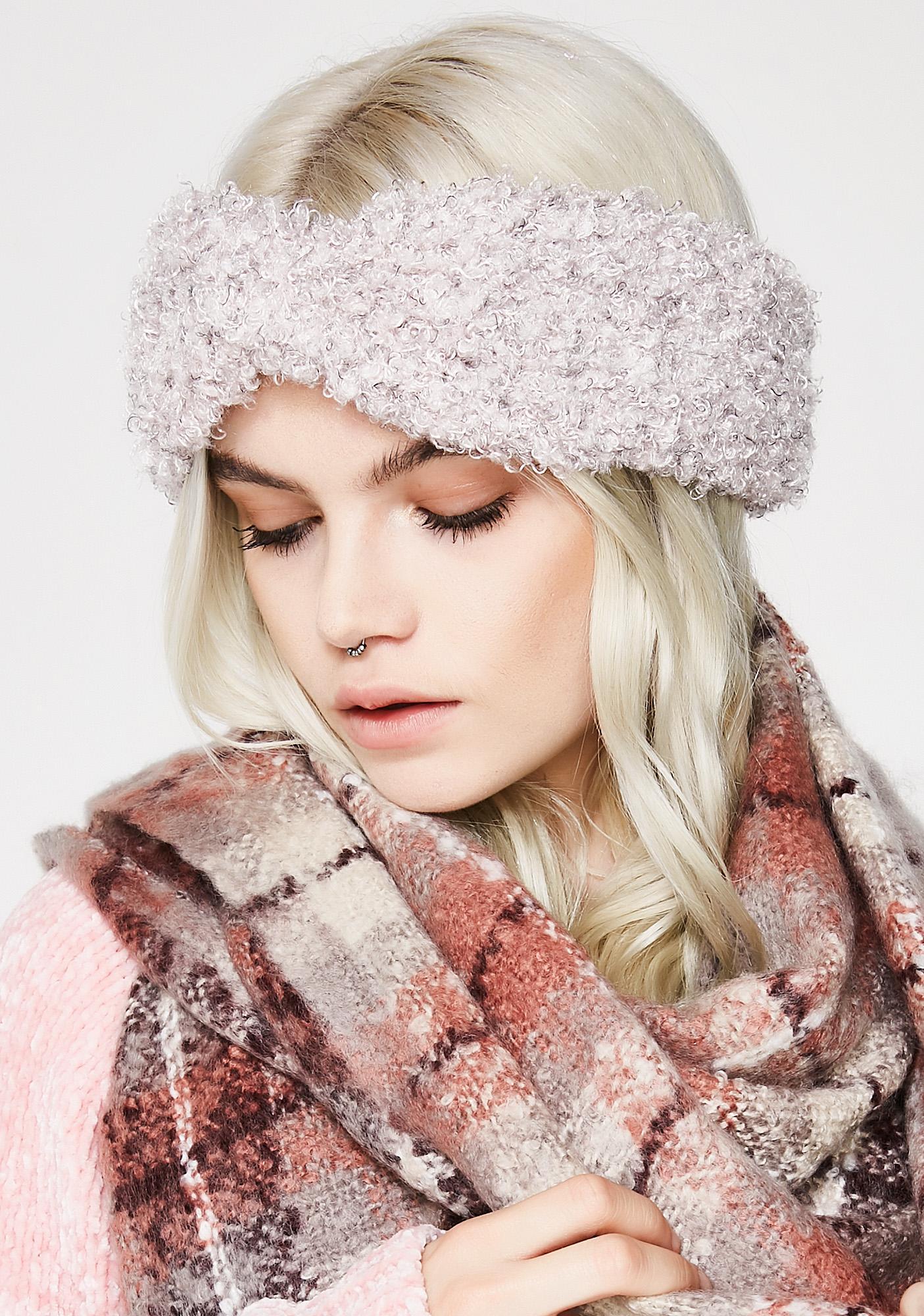 Blush Toasted Fuzzy Headband