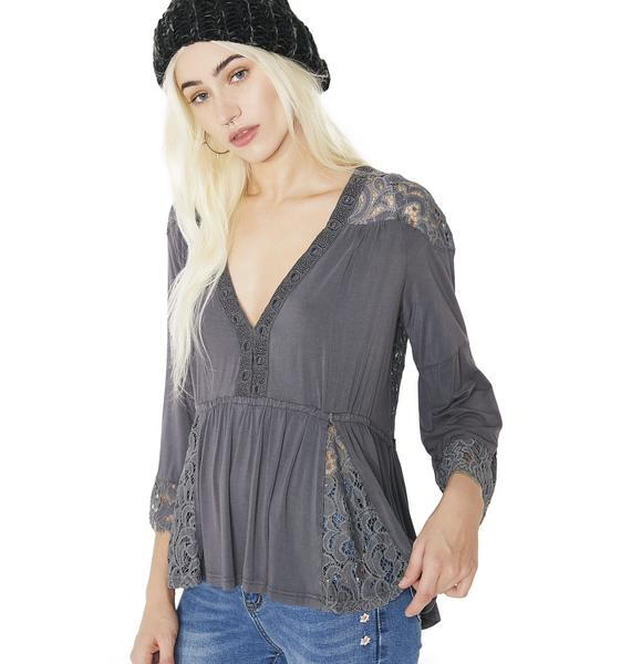 Dark Gypsy Flowy Lace Top