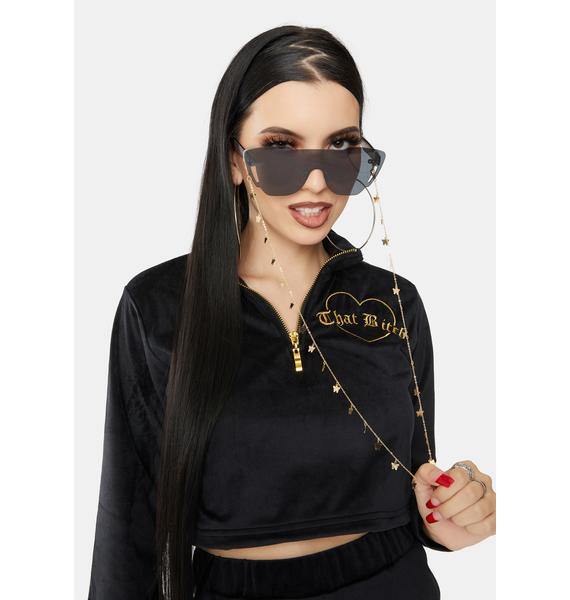 Flying So High Butterfly Sunglasses Chain