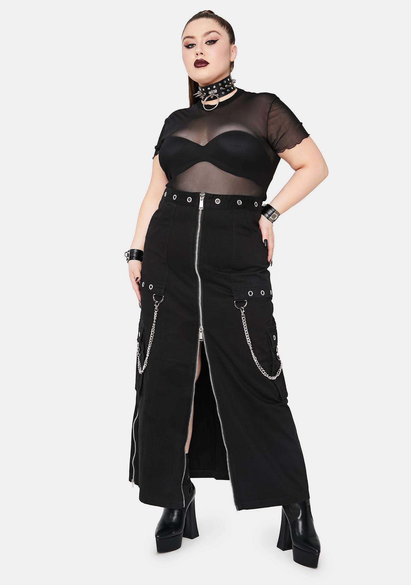 Widow Total Cyber Vamp Maxi Skirt