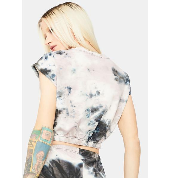Adapting Fierce Tie Dye Muscle Sweatshirt Tee