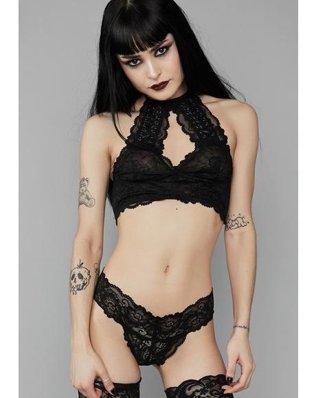 Sorrow Solitude Lace Thong