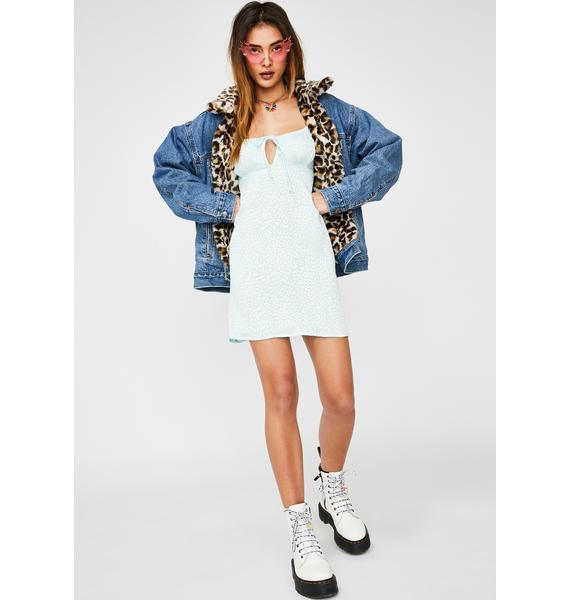Motel Mint Cheetah Kumala Dress
