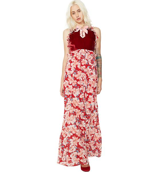 For Love & Lemons Blossom Tank Maxi Dress