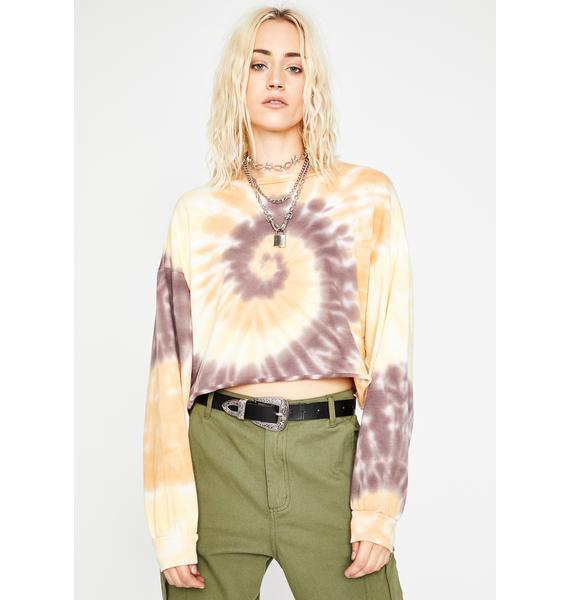 Grunge Bohemian Cropped Sweatshirt