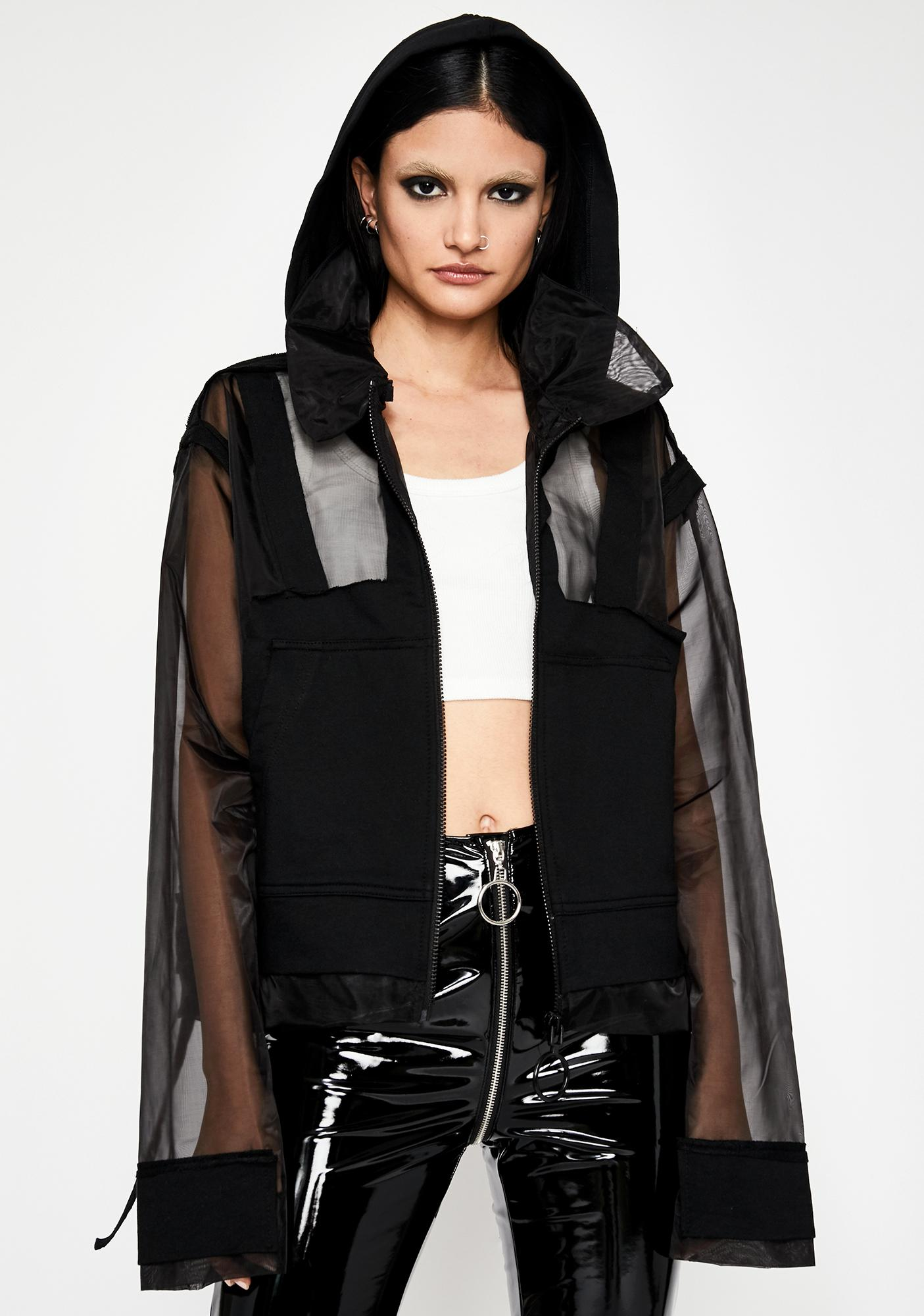 Noir Dance Trance Hooded Jacket
