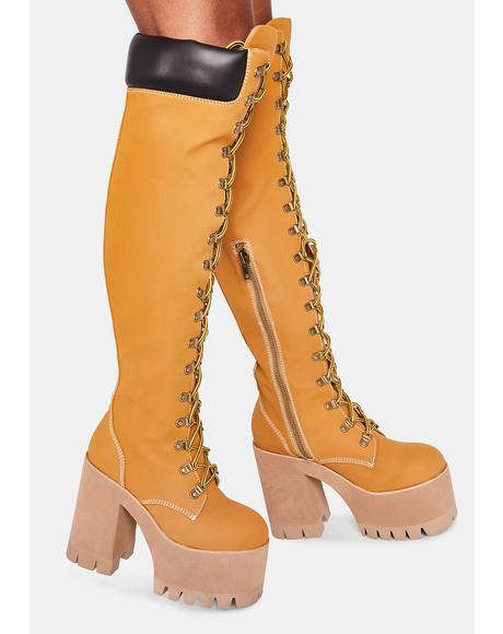 Step It Out Platform Work Boots