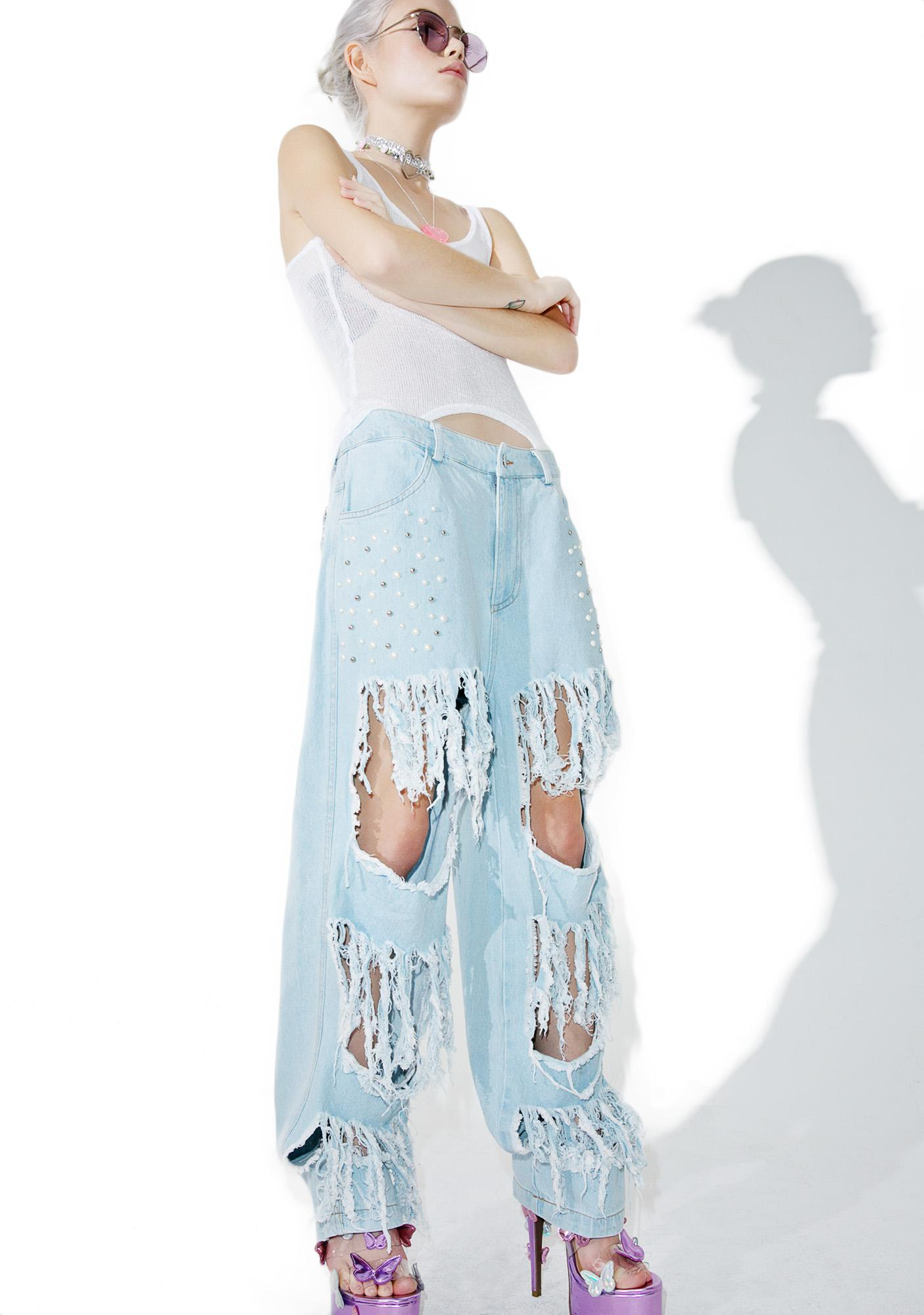 Pearl Jammin' Distressed Jeans