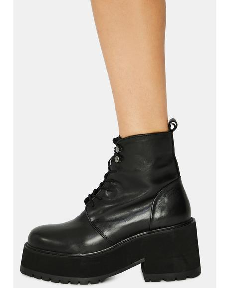 Hana Lace Up Boots