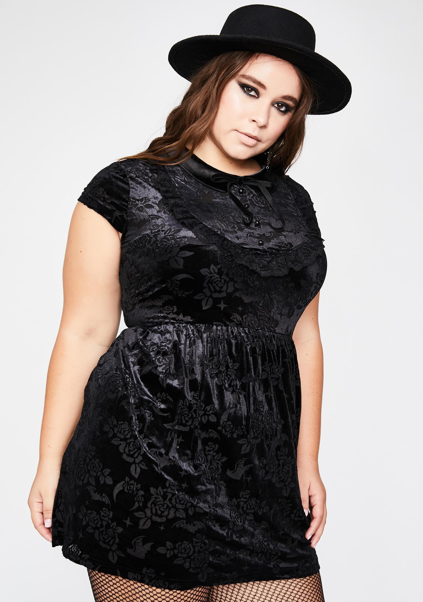 Killstar Plus Invoke Me Babydoll Dress