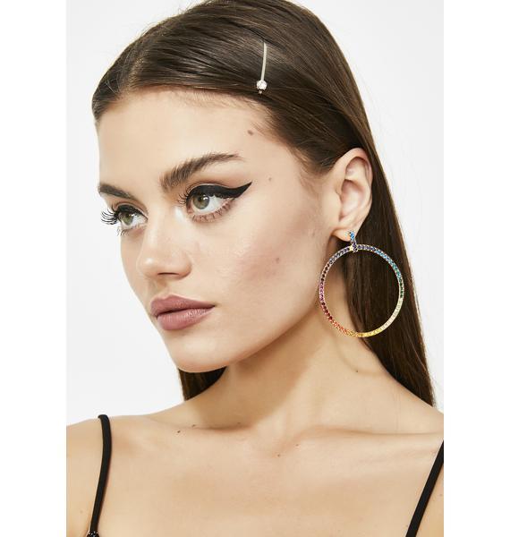 Kaleidic Love Circle Earrings