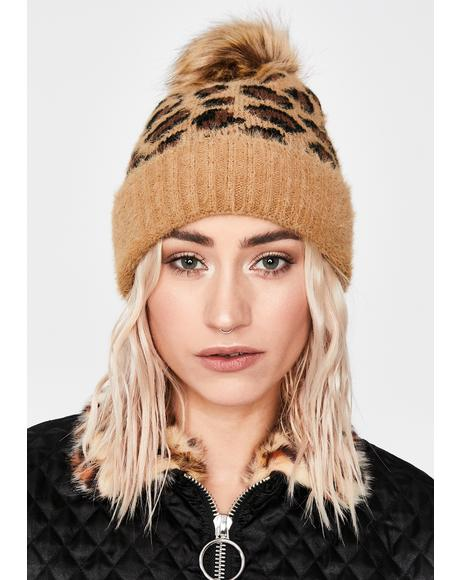Cozy Kitty Lopard Beanie