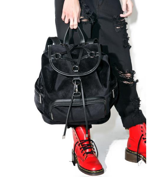 Killstar Damsel Velvet Backpack