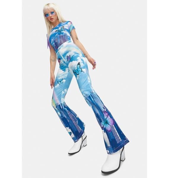 Current Mood Modern Utopia Kick Flare Pants