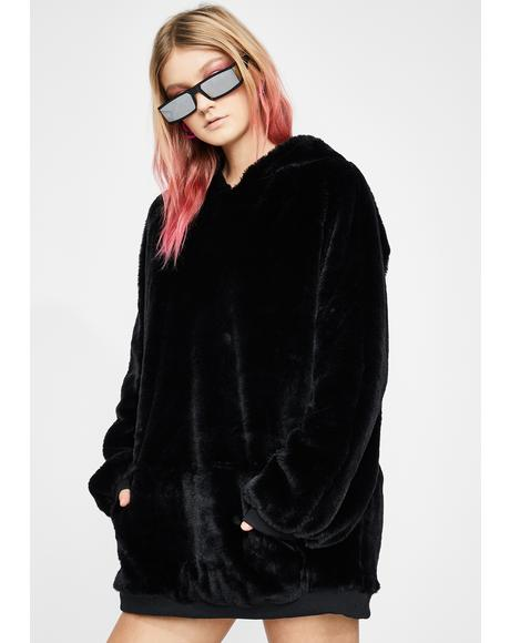 Grizzly Groover Faux Fur Hoodie