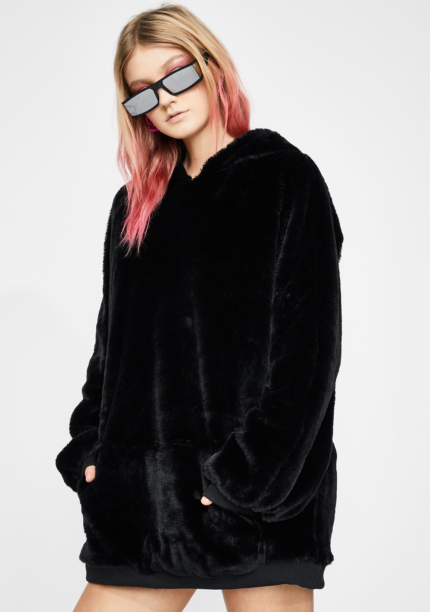Club Exx Grizzly Groover Faux Fur Hoodie