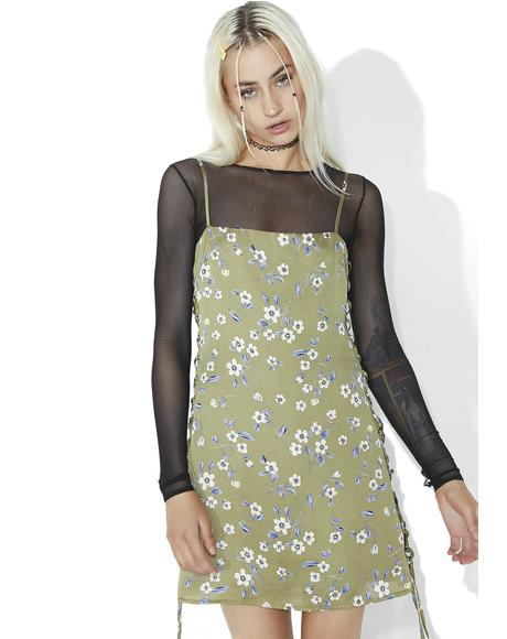 So-Called Angel Lace-Up Dress