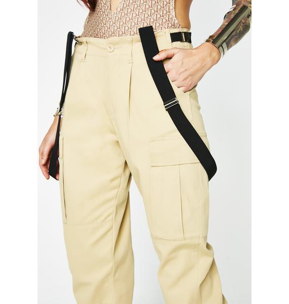 Poster Grl Goal Digger Suspender Cargo Pants