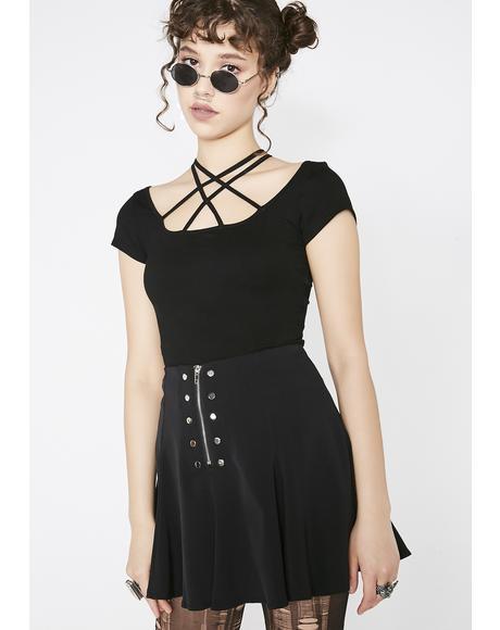 Cool Safety Chiffon Skirt