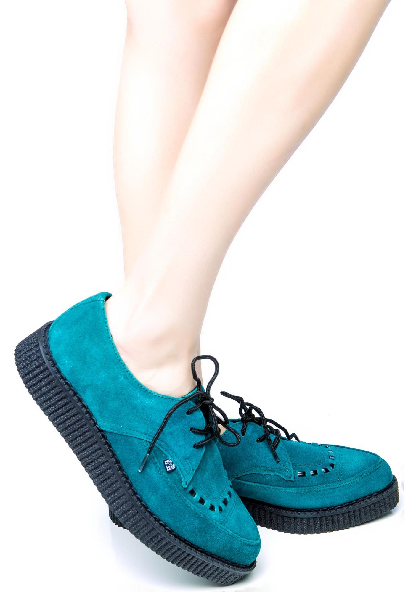 T.U.K. Suede Tie Point Creepers