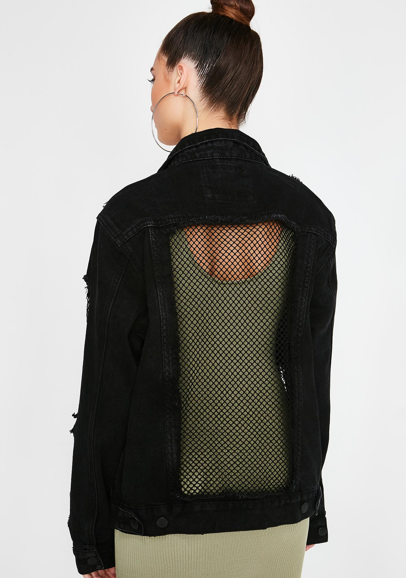 All Caught Up Fishnet Jacket