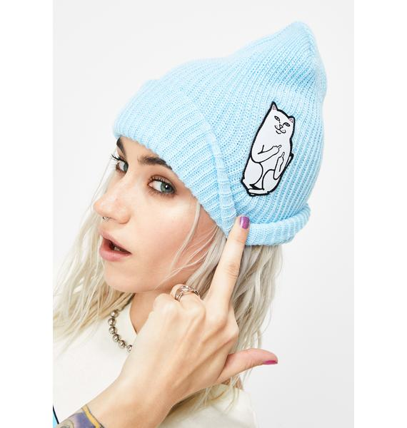 RIPNDIP Baby Blue Lord Nermal Ribbed Beanie