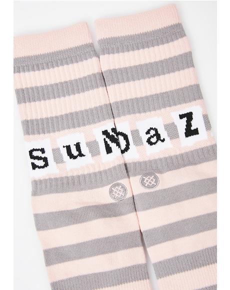 Sun Daze Crew Socks