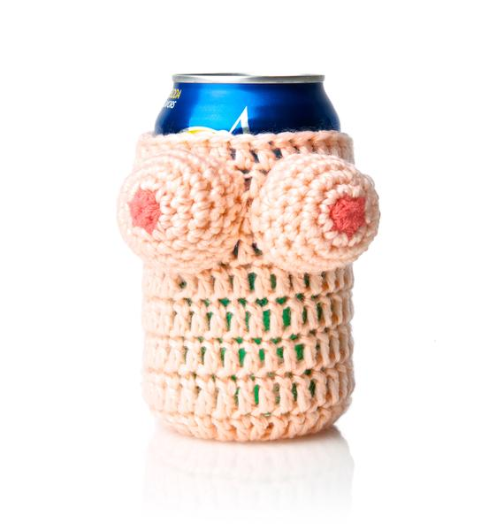 Buxom Babe Knitted Koozie