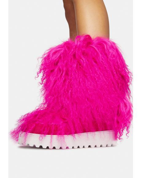 Orchid Faux Fur Boots
