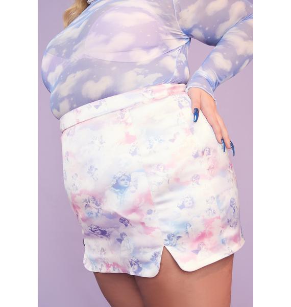 Sugar Thrillz She's On Cloud Nine Mini Skirt