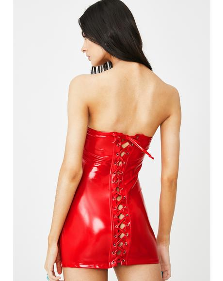 Too Slick Corset Dress