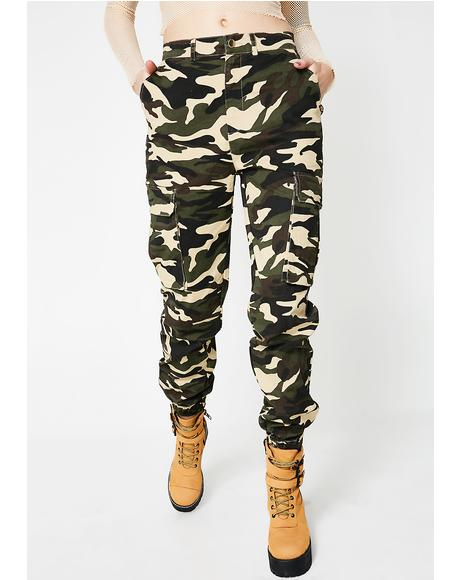 Olive Chain Of Command Cargo Pants